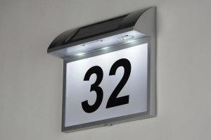 buitenlamp 10091 modern grijs kunststof rechthoekig