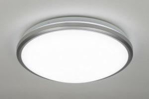 plafondlamp 10111 modern kunststof wit rond