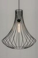 hanglamp 10135 sale landelijk rustiek modern metaal zwart rond