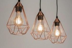 hanglamp 10156 landelijk rustiek modern eigentijds klassiek metaal koper roodkoper