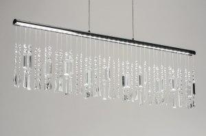 hanglamp 10171 modern eigentijds klassiek chroom kristal kristalglas metaal langwerpig