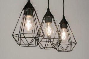 hanglamp 10223 modern zwart metaal langwerpig