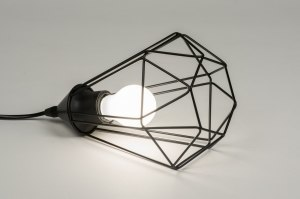 tafellamp 10230 modern eigentijds klassiek landelijk rustiek zwart metaal