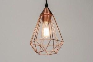 hanglamp 10255 modern eigentijds klassiek landelijk rustiek koper roodkoper metaal