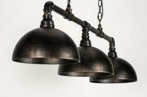 hanglamp 10363 klassiek eigentijds klassiek landelijk rustiek industrie look brons roest bruin roest bruin brons zwart metaal langwerpig