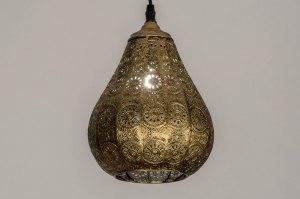 hanglamp 10434 landelijk rustiek klassiek eigentijds klassiek metaal goud messing rond