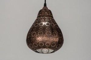 hanglamp 10435 landelijk rustiek klassiek eigentijds klassiek metaal koper roodkoper rond