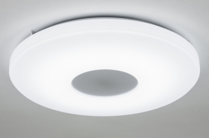 plafondlamp 10448 modern design wit kunststof rond