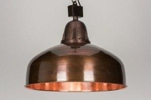 hanglamp 10450 klassiek eigentijds klassiek landelijk rustiek industrie look koper roodkoper metaal rond