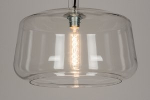 hanglamp 10494 landelijk rustiek modern glas helder glas transparant kleurloos rond
