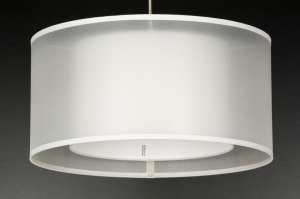 suspension 10602 etoffe blanc creme