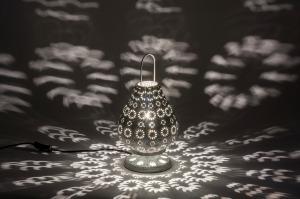 tafellamp 10620 klassiek eigentijds klassiek landelijk rustiek grijs metaal rond