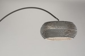 vloerlamp 10684 landelijk rustiek modern eigentijds klassiek metaal wit grijs rond