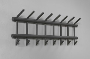 kapstok 10692 modern landelijk rustiek industrie look antraciet donkergrijs metaal