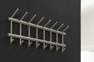 kapstok 10717 industrie look modern stoer raw staal rvs metaal staalgrijs