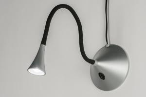 tafellamp 10727 modern aluminium metaal rond