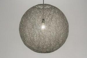 hanglamp 10772 sale landelijk rustiek modern retro kunststof grijs betongrijs rond