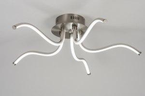 plafondlamp 10778 design modern staal rvs metaal staalgrijs