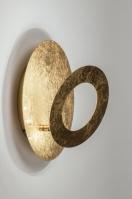 plafondlamp 10843 modern eigentijds klassiek goud metaal rond