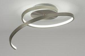 plafondlamp 10875 modern design staalgrijs metaal staal rvs rond
