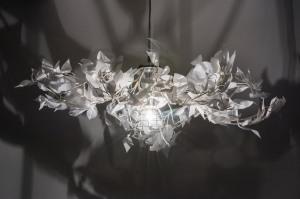 hanglamp 11009 landelijk rustiek modern stof wit