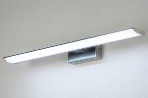 wandlamp 11038 modern staalgrijs metaal staal rvs langwerpig