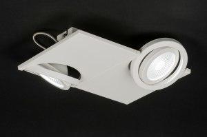 plafondlamp 11059 modern design wit mat aluminium metaal vierkant
