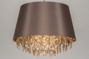 hanglamp 11147 modern eigentijds klassiek landelijk rustiek taupe stof rond