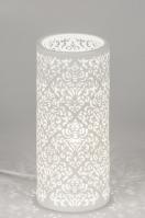 tafellamp 11149 landelijk rustiek klassiek eigentijds klassiek keramiek wit mat rond