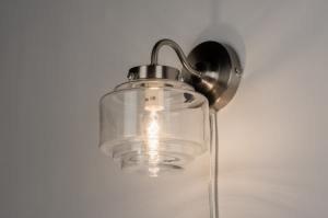 wandlamp 11299 sale modern eigentijds klassiek art deco glas helder glas wit mat