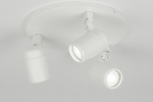 spotlight 11307 modern metal white matt round
