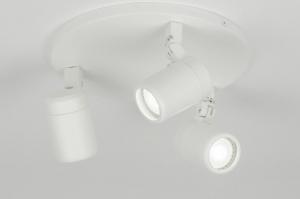plafondlamp 11307 modern metaal wit mat rond