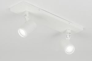 plafondlamp 11308 modern metaal wit mat