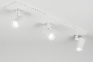 plafondlamp 11309 modern metaal wit mat langwerpig rechthoekig