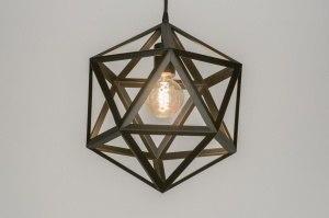 hanglamp 11368 design modern metaal zwart mat