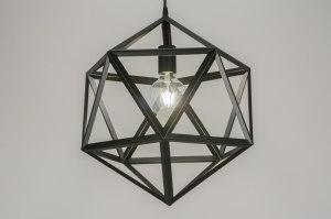 hanglamp 11369 modern design zwart metaal