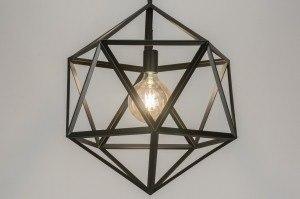 hanglamp 11370 design modern metaal zwart mat