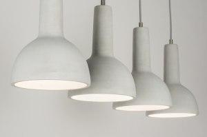 hanglamp 11373 modern stoer raw beton betongrijs langwerpig