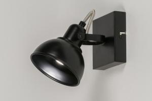 plafondlamp 11376 industrie look modern metaal zwart mat
