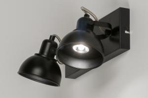plafondlamp 11377 modern metaal zwart rechthoekig