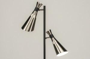 vloerlamp 11469 modern retro metaal zwart mat staalgrijs