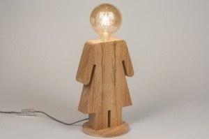 tafellamp 11479 modern landelijk rustiek design hout hout licht hout