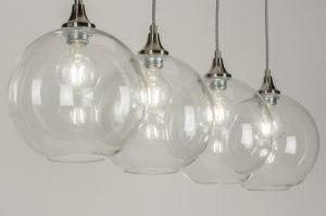 hanglamp 11480 design landelijk rustiek modern retro eigentijds klassiek glas helder glas transparant kleurloos