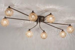 plafondlamp 11486 klassiek eigentijds klassiek brons roest bruin brons roestbrons metaal