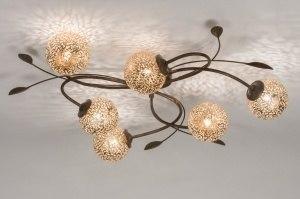 plafondlamp 11487 klassiek eigentijds klassiek brons roest bruin brons roestbrons metaal