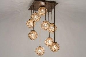 plafondlamp 11490 klassiek eigentijds klassiek brons roest bruin brons roestbrons metaal
