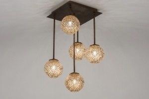 plafondlamp 11491 klassiek eigentijds klassiek brons roest bruin brons roestbrons metaal