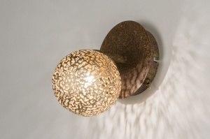 wandlamp 11492 klassiek eigentijds klassiek brons roestbrons metaal brons