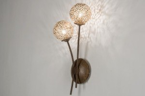 wandlamp 11493 klassiek eigentijds klassiek brons roestbrons metaal brons