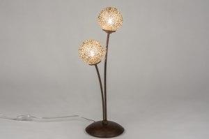 tafellamp 11495 klassiek eigentijds klassiek brons roestbrons metaal goud brons bruin